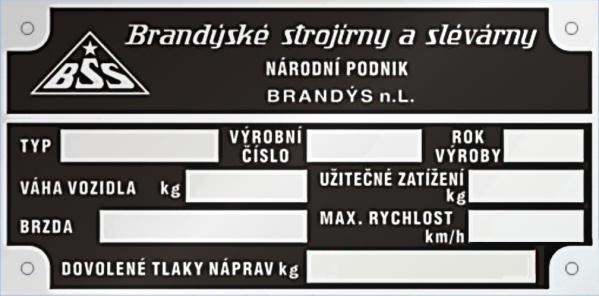 BSS Brandýské strojírny a slévarny Brandýs nad Labem