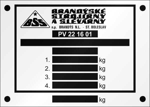 BSS výrobný štítok PV SH ST.Boleslav