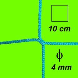 Bezuzlová sieť, 4 mm hrúbka, oko 10 cm, zelená farba