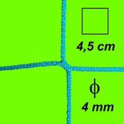 Bezuzlová sieť, 4 mm hrúbka, oko 4,5 cm, zelená farba