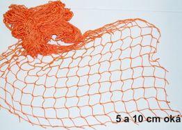 Dekoračná sieť 1x5m, 10cm oko, 2mm oranžová
