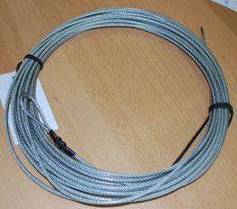Ocelové lanko na volejbal s PVC obalom, 12,50 m