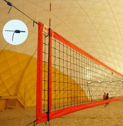 Plážová volejbalová sieť s 4 napínakmi, oranžová