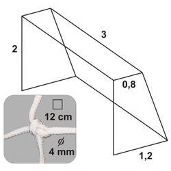 Futbalová sieť 3x2x0,8x1,2/12/4mm