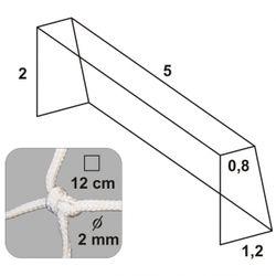 Futbalová sieť 5x2x0,8x1,2/12/2mm