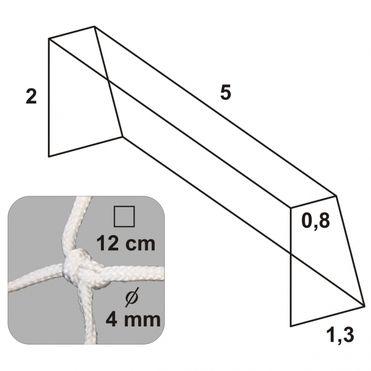 Futbalová sieť 5x2x0,8x1,3/12/4mm