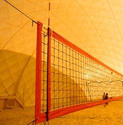 KV Řezáč Plážová volejbalová sieť s 4 úväzkami, červená