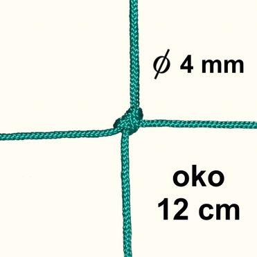 Sieť z 4mm šnúry, oko 12 cm, zelená farba